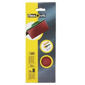 Flexovit PTA Sanding Sheets 1/3 Unpunched - 93 x 230mm - 180 Grit