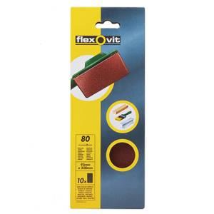 Flexovit PTA Sanding Sheets 1/3 Unpunched - 93 x 230mm - 80 Grit