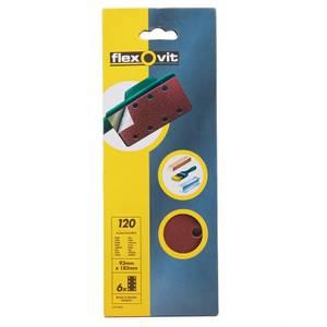 Flexovit PTA Sanding Sheets 1/3 - 93 x 185mm - 120 Grit