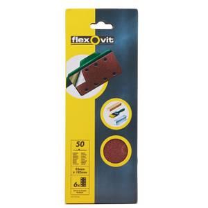Flexovit PTA Sanding Sheets 1/3 - 93 x 185mm - 50 Grit