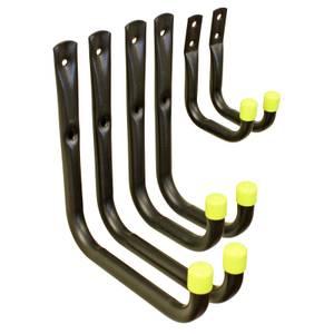 Assorted Universal Black Hooks - 6 Pack