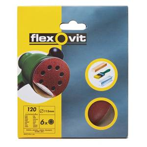 Flexovit PTA 115mm Eccentric Discs - 120 Grit