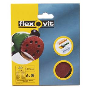 Flexovit PTA 115mm Eccentric Discs - 80 Grit