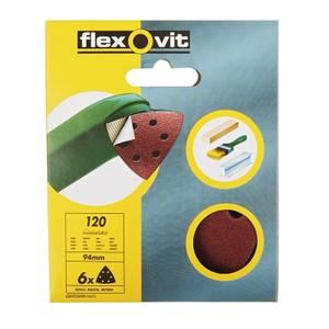 Flexovit PTA Sanding Sheet Corner Triangle - 94mm - 120 Grit