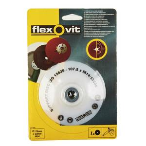 Flexovit Fibre Disc Backing Pads - 115 x 22mm