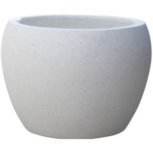 Plaza Moon Garden Planter in White - 23cm