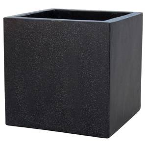 Plaza Cube Garden Planter in Black - 34cm