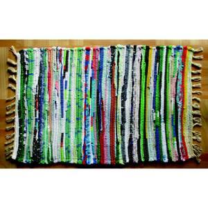 Cotton Chindi Rug - Multicoloured - 90 x 60cm
