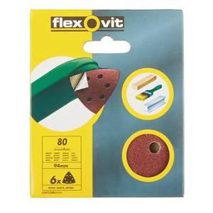 Flexovit PTA Sanding Sheet Corner Triangle - 94mm - 80 Grit
