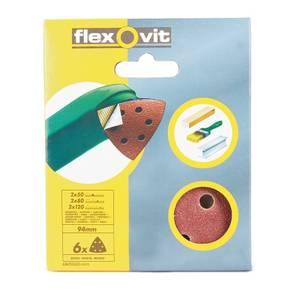 Flexovit PTA Sanding Sheet Corner Triangle - 94mm - Assorted Grit