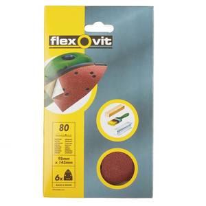 Flexovit PTA Corner Sanding Sheet - 95 x 145mm - 80 Grit