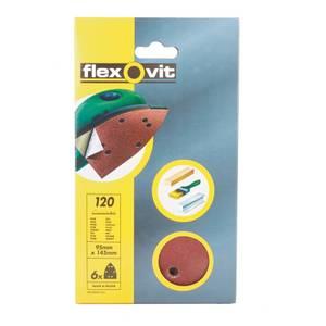 Flexovit PTA Corner Sanding Sheet - 95 x 145mm - 120 Grit