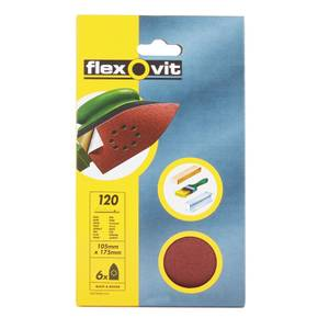 Flexovit PTA Corner Sanding Sheet - 105 x 175mm - 120 Grit