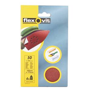 Flexovit PTA Corner Sanding Sheet - 105 x 175mm - 50 Grit
