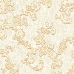 Grandeco Villa Borghese Trail Cream Wallpaper