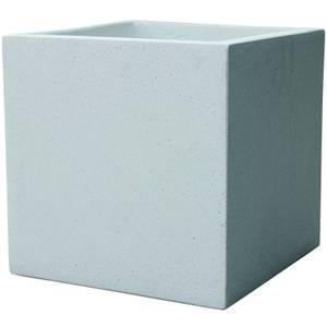 Plaza Cube Garden Planter in White - 34cm