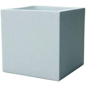 Plaza Cube Planter in White - 44cm