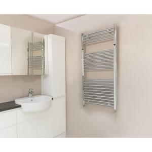 Chrome Curved Heated Towel Rail - 500x1200 mm