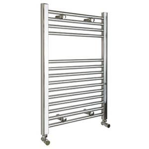 Qual-Rad Straight Heated Towel Rail - 750mm x 600mm - Chrome