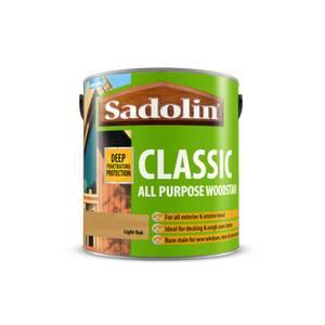 Sadolin Classic Light Oak Woodstain- 2.5L