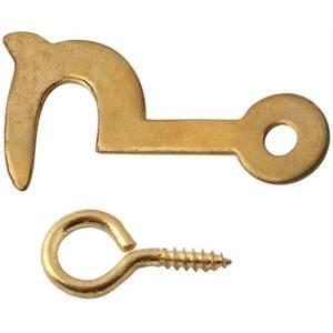 Brass Side Hook & Eyes 32mm - 2 Pack