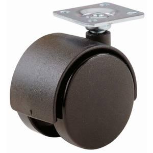 Castor Single Wheel Plate 40mm - 2 Pack