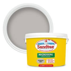Sandtex Ultra Smooth Masonry Paint - Plymouth Grey - 10L