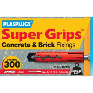 Plasplugs Bulk Red Fixings x 300