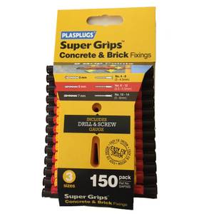 Plasplugs Mixed Solid Wall Fixings Clip - 150 Pack