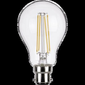 TCP LED Filament Clear Classic 6W BC Light Bulb - 3 pack