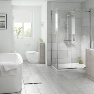 Classico Light Grey Wall and Floor Tile - 600 x 300mm