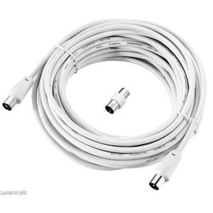 Ross Coaxial Aerial Cable 10m White