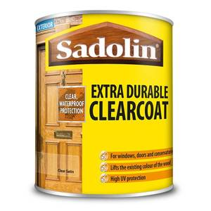 Sadolin Extra Durable ClearCoat Satin Clear - 750ml