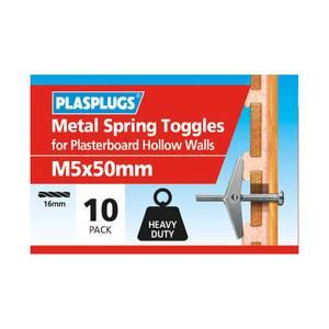Plasplugs Spring Toggle M5 x 10
