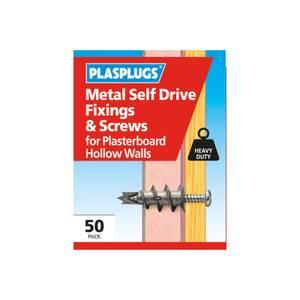 Plasplugs Metal Self Drive & Screws x 50