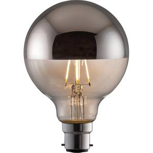 TCP LED Filament Globe Crown 4W B22 Light Bulb - Silver