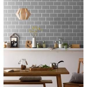 Metro Grey  10 x 20cm Wall Tile - 25 Pack