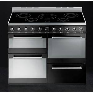 Smeg SYD4110IBL Symphony Electric Induction Range cooker - 110cm - Black