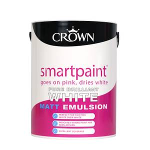 Crown Brilliant White Smartpain - Matt Emulsion - 5L