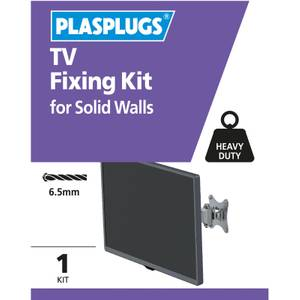 Plasplugs TV Solid Fixing Kit