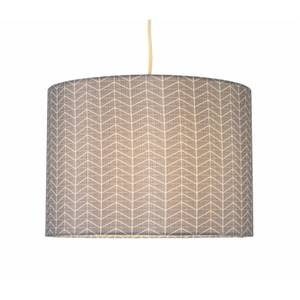Hadley Herringbone Geometric Printed Lamp Shade - Blue & Ivory