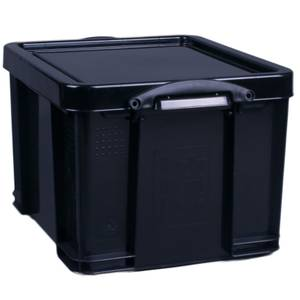 Really Useful Storage Box - Black - 35L