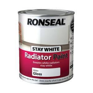 Ronseal Stays White Radiator Paint Gloss - 750ml