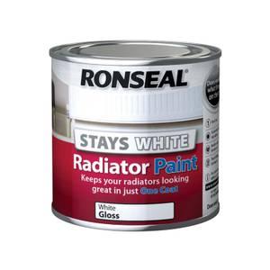 Ronseal Stays White Radiator Paint Gloss - 250ml