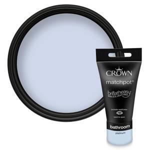 Crown Breatheasy Bathroom - Platinum - Mid Sheen Paint - 40ml