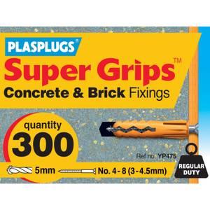 Plasplugs Yellow Plugs & Screws x 20