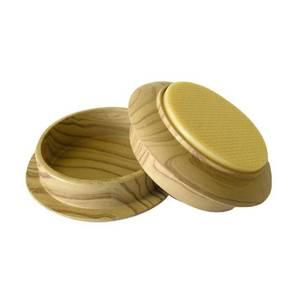 Non-Slip Castor Cups - Light Wood Grain - 45mm - 4 pack