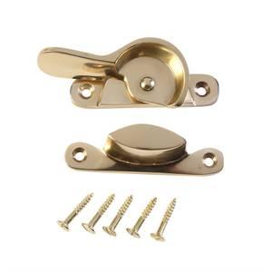 Fitch Sash Window Fastener - Polished Brass - 65mm