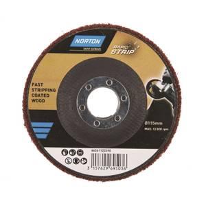 Norton Rapid Strip Paint & Varnish Abrasive Disc - 115mm