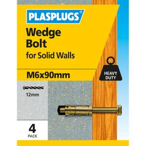 Wedge Bolt M6 X 90mm 4 Pk